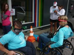 Kresz-suli nap fogyatékkal élő közlekedőkkel 1.Kép