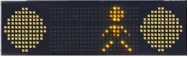 Duo Flash sárgavillogó oktató jelzőlámpa gyalogosátkelőhöz