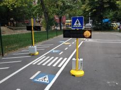 Duo Flash sárgavillogó oktató jelzőlámpa gyalogosátkelőhöz 2.Kép